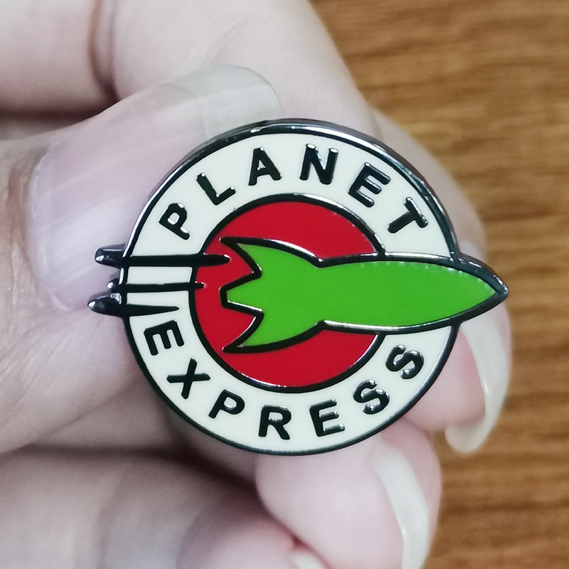Planet Express Brooch Shut up and take me away!