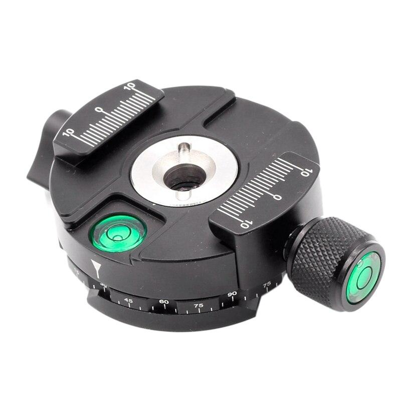 XILETU XPC-60C 360 Degree Panoramic Tripod Head Clamping for Arca Swiss Tripod Ball Head 38mm Quick Release Plate