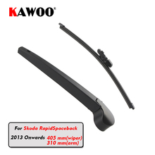 KAWOO Car Rear Wiper Blade Blades Back Window Wipers Arm For Skoda Rapid Spaceback Hatchback (2013-) 405mm Auto Windscreen Blade