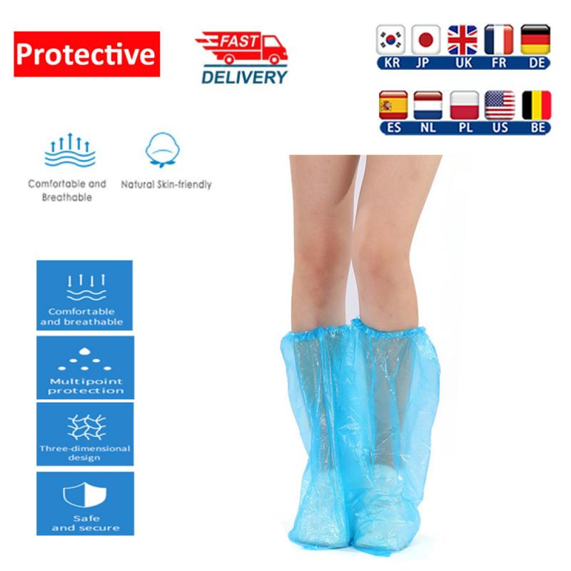 Useful and Practical Protect Carpets /& Floors//Clean Room fast-shop 100 Blue Disposable Shoe Covers Overshoes for Shoes and Boots