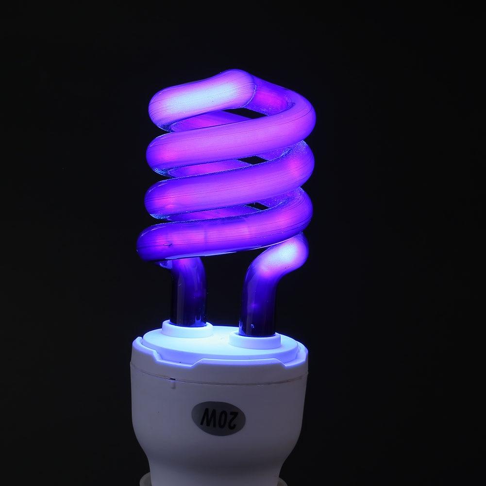 Light Bulb Ultraviolet 20W E27 Lamp Small Screw Fluorescent UV Blacklight