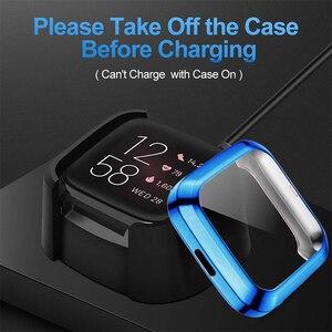Image 4 - Beschermhoes Voor Fitbit Versa 2 Smart Watch Case Volledige Randen Protector Anti Shock Met Screen Film Shell Voor Versa 2