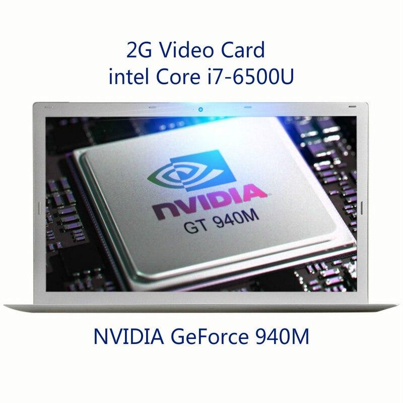 I7-6500U 4G RAM Intel Laptop Custom Laser Logo 15.6 Inch 1080P IPS NVIDIA GeForce 940M Backlit Keyboard Gaming Notebook Computer