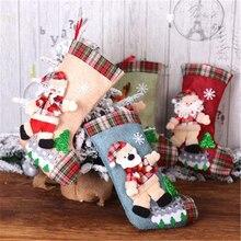 Christmas Socks Gift Bag Decoration Snowman/Bear/Elk/Santa Large Candy