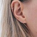 Серьги-гвоздики e-Manco женские, ювелирные украшения из нержавеющей стали с шариком диаметром 3 мм, простые модные ювелирные украшения