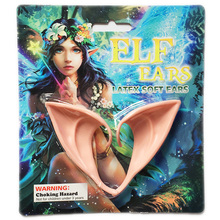 2019 Hot Selling 1 Pair Latex Elf Ears Pointed Cosplay Mask for Halloween Masquerade Party Costumes Festival