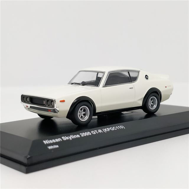 Kyosho 1:64 Nissan horizon 2000 GTR (KPGC110) modèle de voiture moulé sous pression blanc