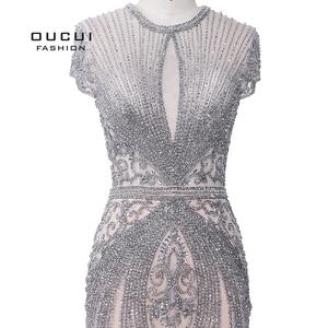 Image 5 - Oucui elegante vestido de noite formal 2020 vestido de festa longo para as mulheres robe de soiree vestidos de festa de noche sukienka wieczorowa