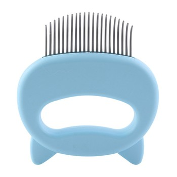 Pet Massage Brush Shell Shaped Handle Pet Grooming Massage Tool   4