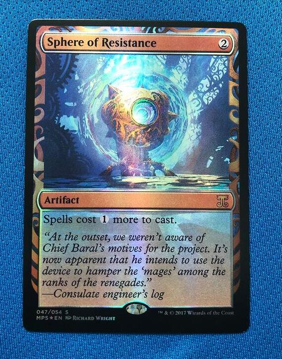 Sphere Of Resistance Kaladesh Inventions Foil Magician ProxyKing 8.0 VIP The Proxy Cards To Gathering Every Single Mg Card.