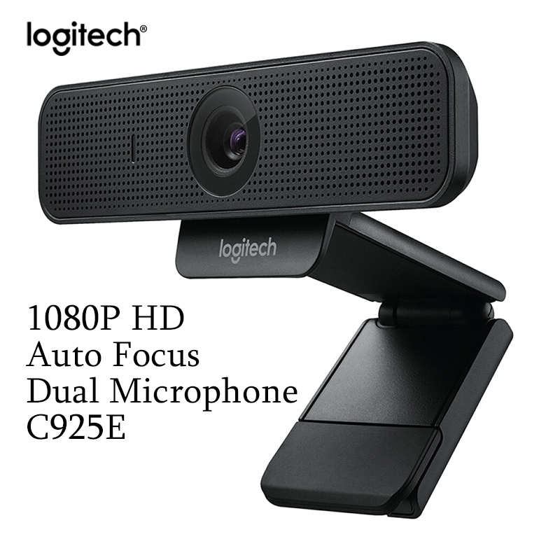 New Original Logitech C925e 1080p HD Webcam with Built-In Stereo Microphones auto focus Suitable for Office computer notebook