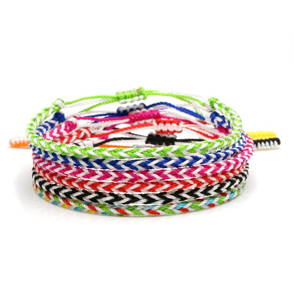 Two Tone Eight square knot Tibetan Buddhist Lucky Knot Handmade Friendship Bracelet Women New Chic Trendy String Surf Jewelry