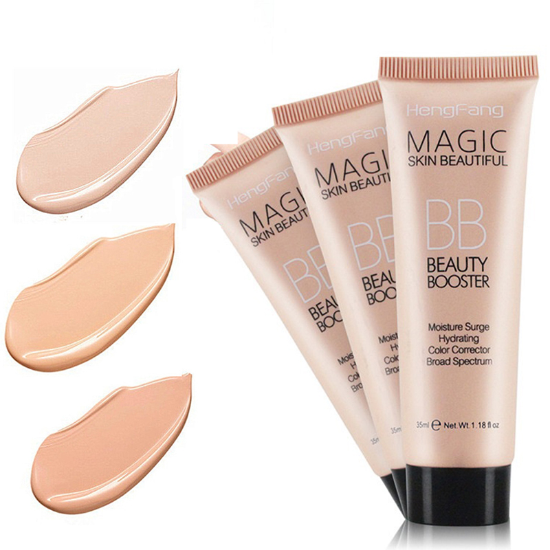 3 Colors Long Lasting BB Cream Face Brighten Base Foundation Waterproof Concealer Moisturizing Whitening Make Up TSLM2
