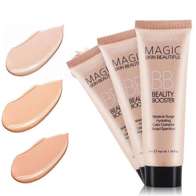 3 colores de larga duración BB crema cara iluminar Base corrector resistente al agua hidratante blanqueamiento maquillaje TSLM2