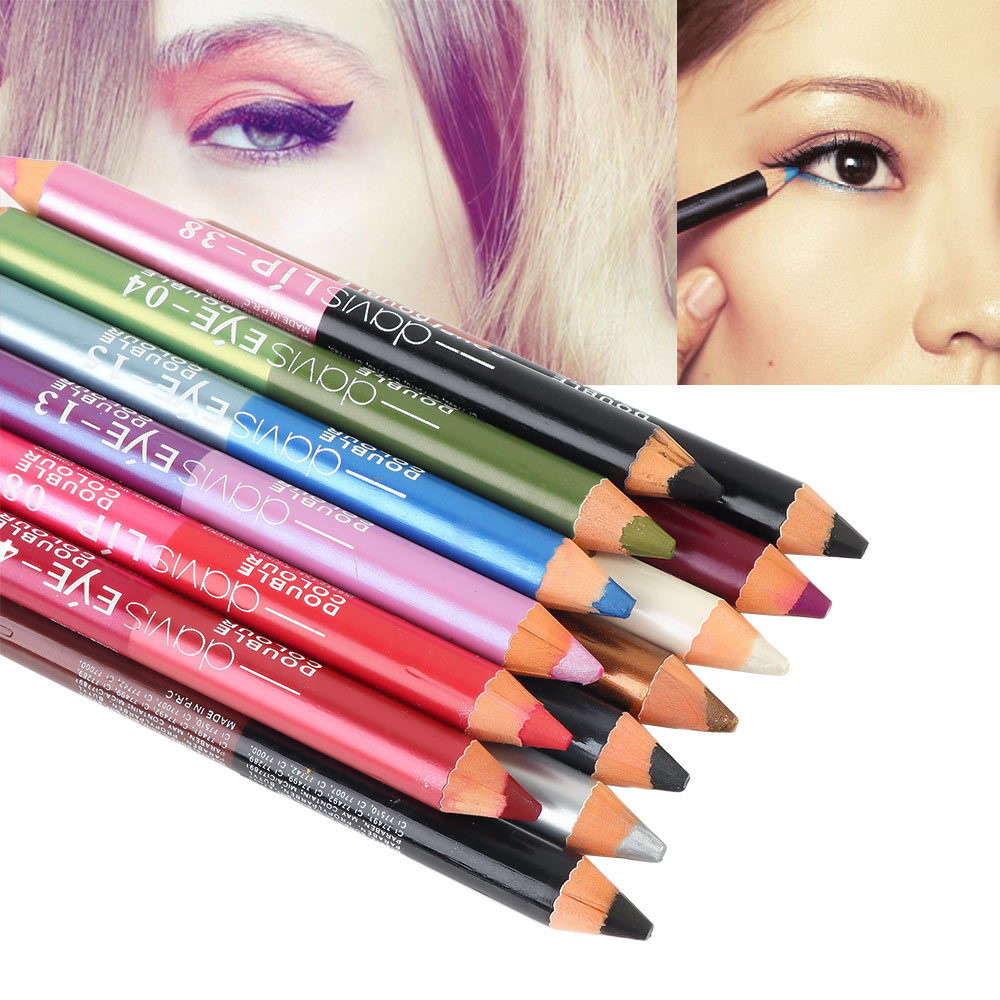 1Pcs 13 Colors Highlighter Glitter Eyeshadow Eyeliner Pen Makeup Durable Waterproof Sweatproof Double-ended Eyes Pencil Makeup