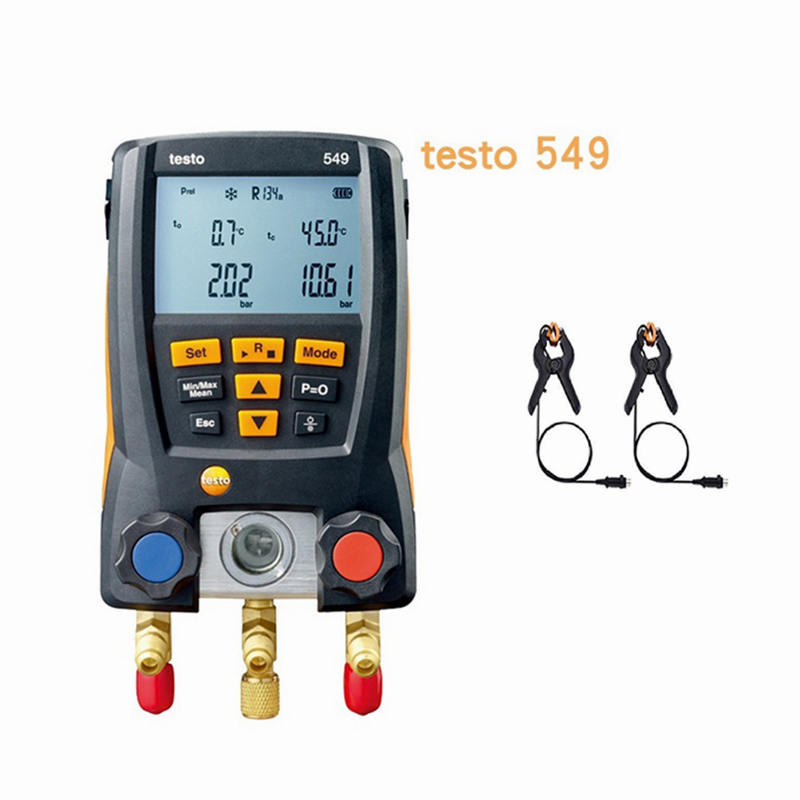 Refrigeration Testo 549 With Temperature Pliers Digital Manifold HVAC Gauge System Kit Meter 0560 0550