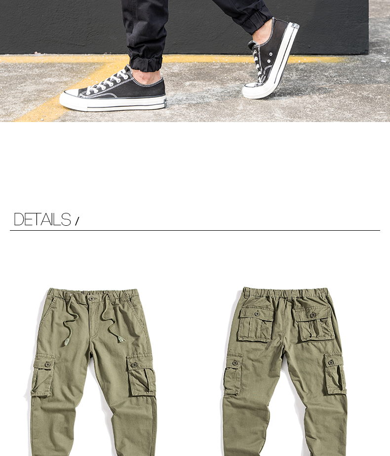 KSTUN Cargo Pants Men Summer Thin Male Overalls Loose fit Trousers casual pants joggers men's clothing brand soft 100% cotton 25