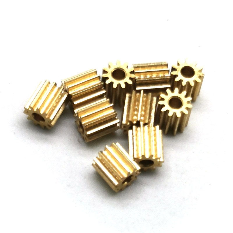 112A 0.5M Brass Gear 11 Teeth Mechanical Parts Inner Hole 2mm Tight Fitting Small Module Pinion Metal Gears