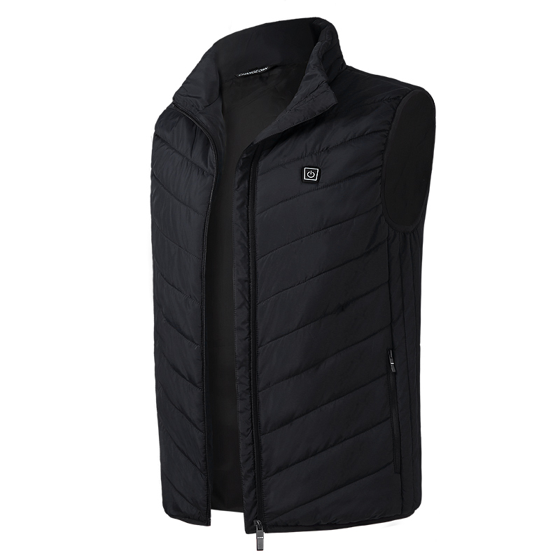 2020 Men Outdoor USB Infrared Heating Vest Jacket Men Women Winter Electric Thermal Clothing Waistcoat For Sports Hiking 9