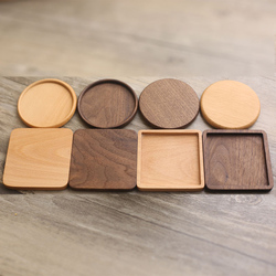 Durable Wood Coasters Placemats Round Heat Resistant Drink Mat Table Tea Coffee Cup Pad Non-slip cup mat insulation pad Dropship