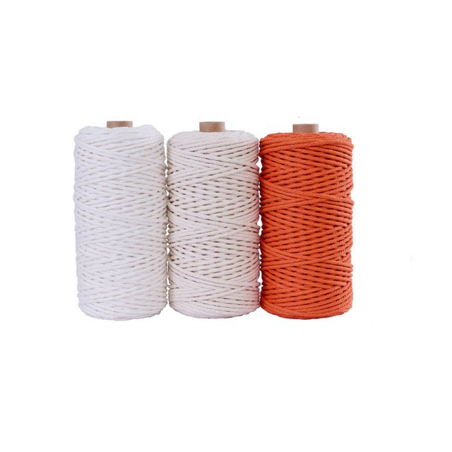 3mm 100% Cotton Cord Colorful Cord Rope,  Macrame ...