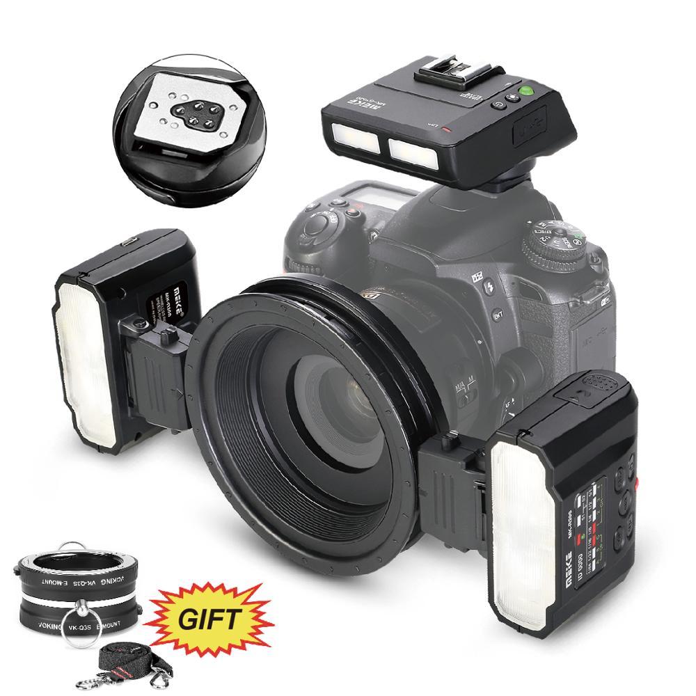 Meike MK-MT24 Macro Twin Lite Speedlight Flash for Canon DSLR Camera 70D 60D 760D 750D 550D 450D 1200D 5D 6D EOS M3 + VK-Q3