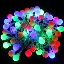 Новинка, 1,5 м, 3 м, 6 м, Сказочная гирлянда, светодиодный, шар, гирлянда, водонепроницаемая, для рождественской елки, свадьбы, домашнего интерьера, украшение на батарейках