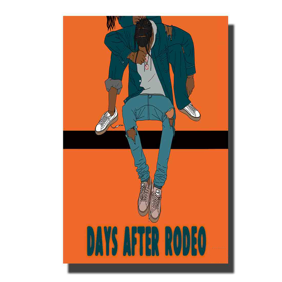 Details about  /Repro For Travis Scott Days Before Rodeo Art Music Album Poster HD Canvas Paint