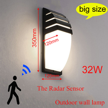 Wall-Lamp Porch-Light Radar-Motion-Sensor Garden Outdoor Led Waterproof AC85--265V 12W