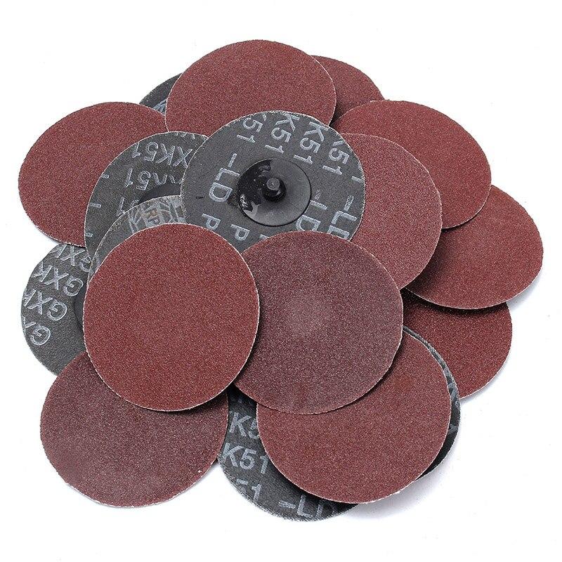 25pcs 120 Grit Sanding Disc R Type Discs Abrasive Roloc Disc Polishing Tool For Surface WWO66