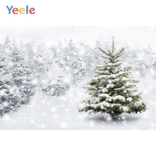 Yeele Christmas Tree Winter White Snow Forest Wonderland Backdrop Baby Portrait Photography Background For Photo Studio Vinyl