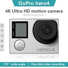 Gopro hero 4 prata 4k ultra hd câmera de ação à prova dwifi água wifi conexão bluetooth câmera capacete montado ao ar livre mergulho câmera