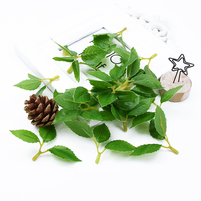 20/50pcs Artificial Plants Wedding Decorative Flowers Wreaths Christmas Decorations For Home Eucalyptus Leaves Silk Rose Leaf