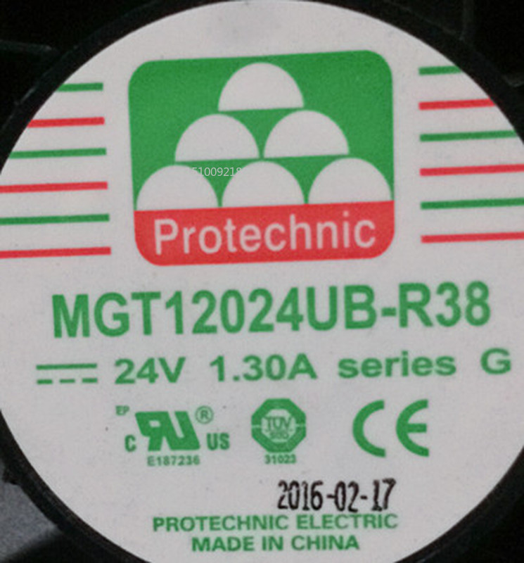 For Authentic MGT12024UB-R38 24V 1.30A 12CM 12038 3-wire Cooling Fan Free Shipping