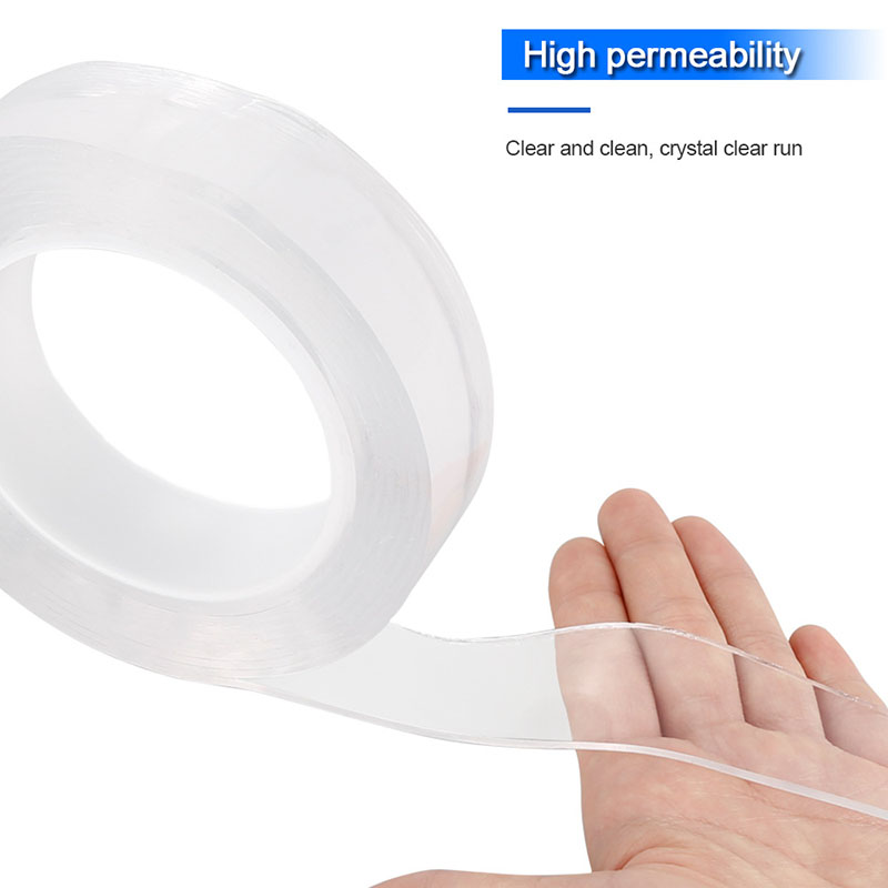 1/2/3/5m Nano Magic Tape Reusable Double-Sided Adhesive Indoor Traceless Washable Removable Tapes Transparent Acrylic Magic Tape