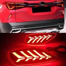 Reflektory samochodowe 1 para reflektor LED dla Kia Seltos 2019 2020 2021 światło tylne samochodu tylne światło na zderzak tylne światło stopu lampy przeciwmgielnej