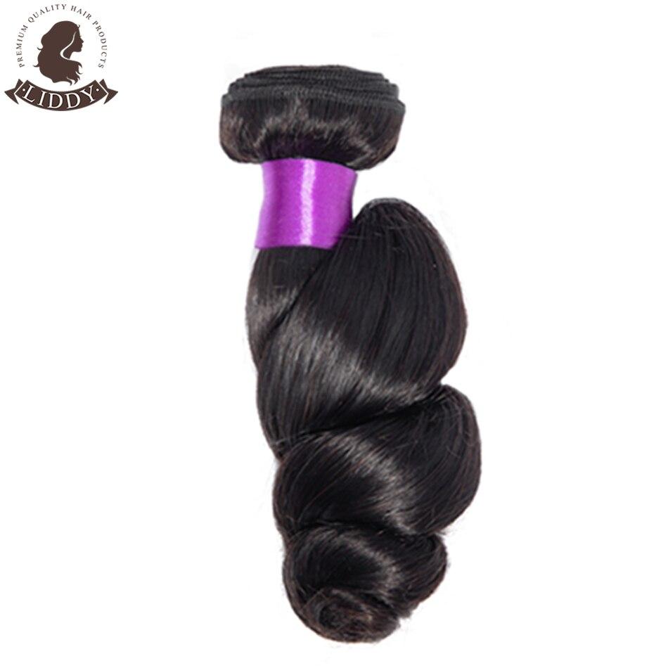 3 pacotes de cabelo humano com laço
