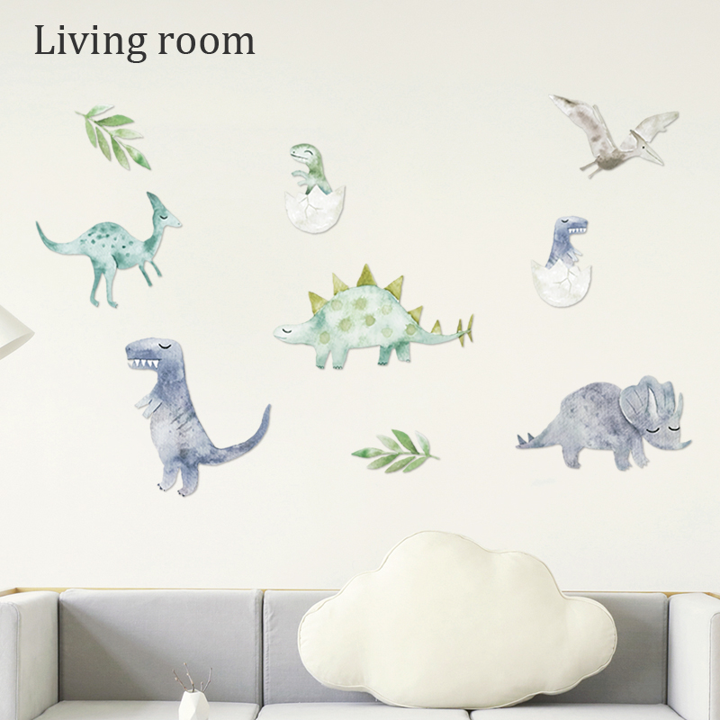 Dinosaurs Wall Stickers 3D Decal Animal Wallpaper Cartoon Living Room Decoration