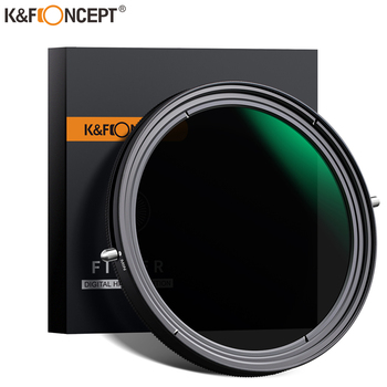 цена на K&F Concept ND2-ND32 ND CPL Filter lens adjustable Circular Polarizing  Filter 2 in 1 Variable 49mm 52mm 58mm 62mm 67mm 77mm
