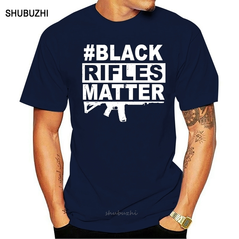 <font><b>AR</b></font> 15 Gun <font><b>shirt</b></font> - 2 Amendment - Black Rifles Matter men cotton tshirt summer brand teeshirt euro size image