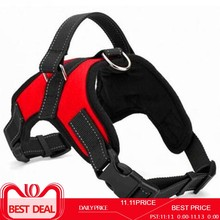 Adjustable Nylon No Pull Dog Harness Vest For Big Dog Harness Large Dog Leash XL Medium Pet Supplies Vest Pet Collar Accessories(China)