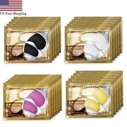 Ons 20Packs 24K Gold Crystal Collageen Oogmasker Patch Pad Hydraterende Anti Aging Wallen Dark Cirkel Remover Oog tassen Huidverzorging