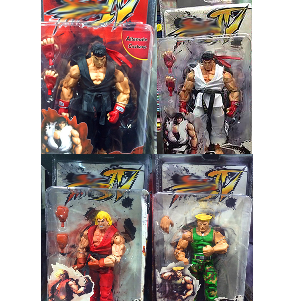 18cm 7inch NECA Ken Guile Hoshi Ryu PVC Action Figure Toy Doll Christmas Gift