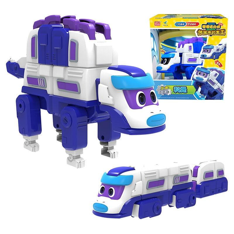 Экшн-фигурки динозавров-трансформеров, автомобиль из АБС-пластика, большой ГОГО, динозавр со звуком, игрушки для детей