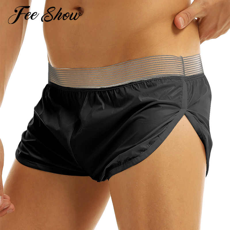 FEESHOW Mens Fashion Solid Casual Shorts Swim Shorts Boxer Briefs Lounge Sports Short Pants