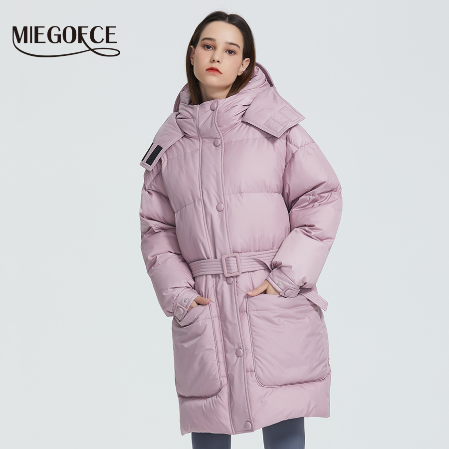 MIEGOFCE 2019 New Design Winter Coat Womens Parka Insulated Loose Cut With Patch Pockets Casual Loose