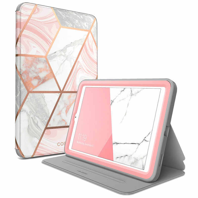 I-BLASON For Samsung Galaxy Tab A 8.0 Case 2018 Cosmo Full-Body Lightweight Leather Hybrid Cover with Built-in Screen Protector