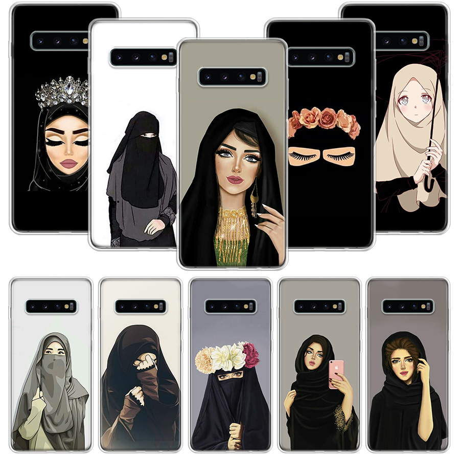 Muslim Islamic Woman In Hijab Face Gril <font><b>Case</b></font> for <font><b>Samsung</b></font> Galaxy S20 Ultra Note <font><b>10</b></font> 9 8 S10E S9 S8 J4 J6 J8 Plus + Pro S7 S6 Soft image
