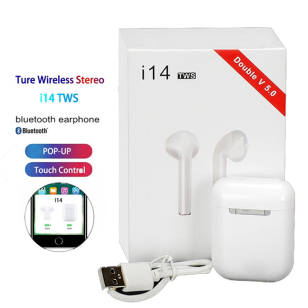 Original I14 TWS Wireless Earphones Bluetooth Headset Invisible Earbuds For Smart Phone PK I11 I12 I13 I15 I7s I20 I60 I30