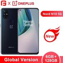 Em estoque versão global oneplus nord n10 5g snapdragon 690 telefone móvel 6gb ram 128gb rom 64mp quad camera 90hz 6.49